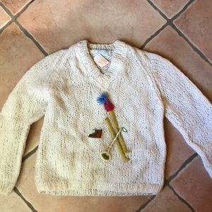 One of a kind vintage Italian ski sweater⛷🎿
